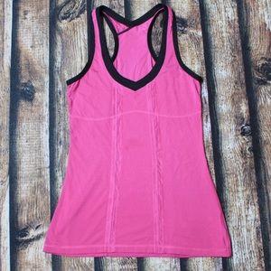 Lululemon Pink & Black Racerback Active Wear Tank